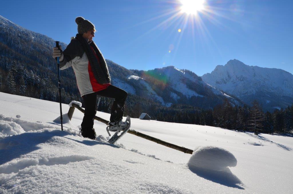 Schneeschuhwandern bei der Gedankenwanderung